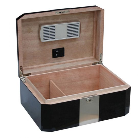 Medium Black Cigar Humidor CH-1045A