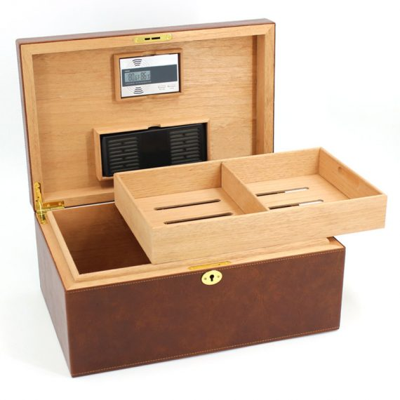 Large Cigar Leather Humidor Case CH-1402