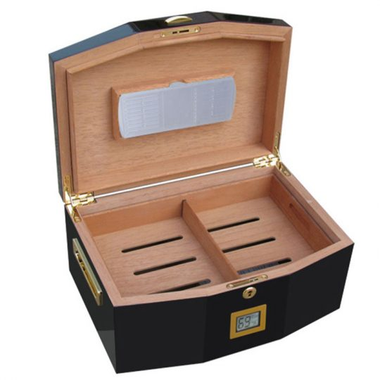 Black Medium Humidor CH-0199