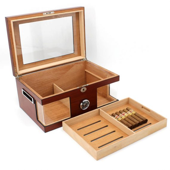 Glass Top Cherry Humidor CH-0204