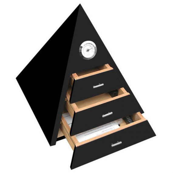 Pyramid Black Humidor CH-0373B