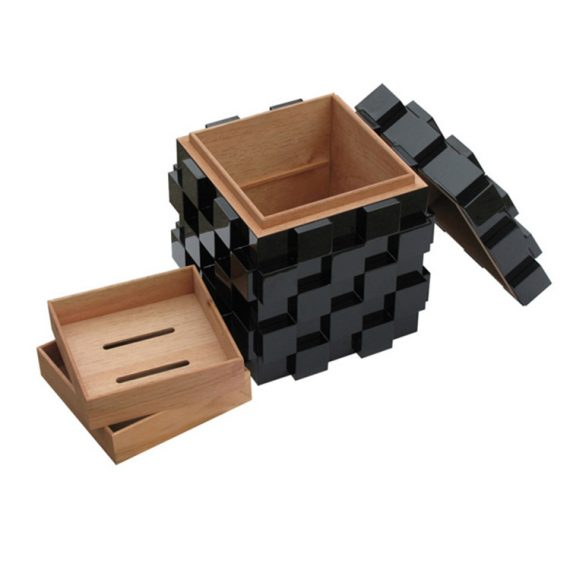 Black Rubik's Cube Humidor CH-0760